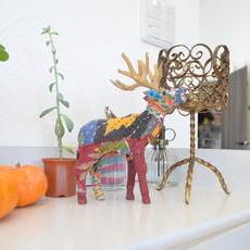 鹿のインテリア