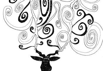自作イラスト(鹿)