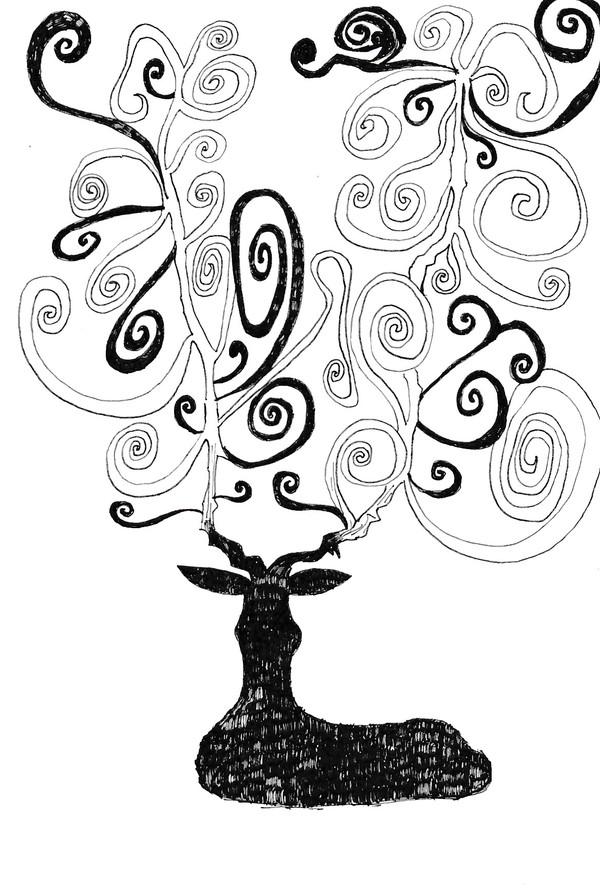自作イラスト(鹿)のサムネイル