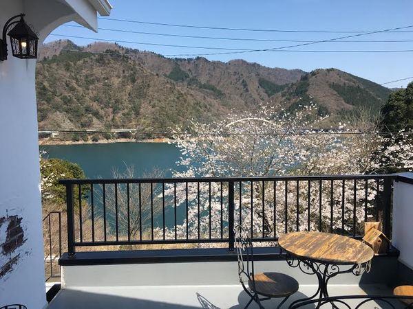 Cafe Deearから見た宮ヶ瀬湖(春)のサムネイル
